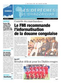 Les Dépêches de Brazzaville : Édition brazzaville du 19 avril 2013