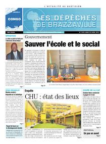 Les Dépêches de Brazzaville : Édition brazzaville du 22 avril 2013