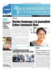 Les Dépêches de Brazzaville : Édition brazzaville du 24 avril 2013