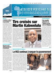 Les Dépêches de Brazzaville : Édition kinshasa du 24 avril 2013