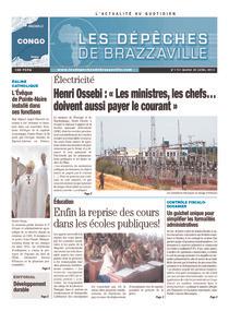 Les Dépêches de Brazzaville : Édition brazzaville du 30 avril 2013