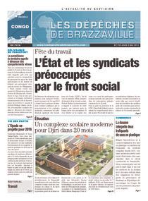 Les Dépêches de Brazzaville : Édition brazzaville du 02 mai 2013