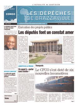 Les Dépêches de Brazzaville : Édition brazzaville du 03 mai 2013