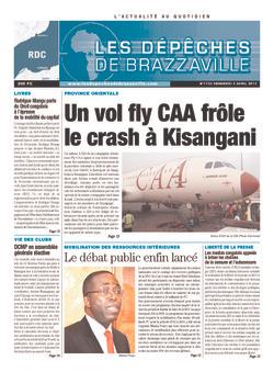 Les Dépêches de Brazzaville : Édition kinshasa du 03 mai 2013