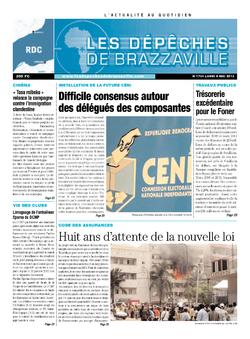 Les Dépêches de Brazzaville : Édition kinshasa du 06 mai 2013