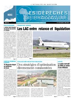 Les Dépêches de Brazzaville : Édition kinshasa du 07 mai 2013