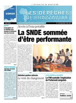 Les Dépêches de Brazzaville : Édition brazzaville du 08 mai 2013