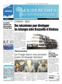 Les Dépêches de Brazzaville : Édition brazzaville du 13 mai 2013
