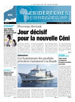 Les Dépêches de Brazzaville : Édition kinshasa du 14 mai 2013
