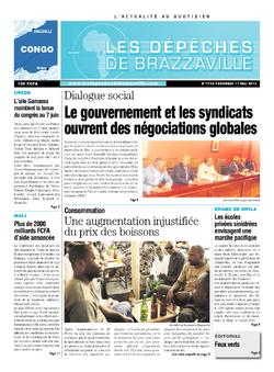 Les Dépêches de Brazzaville : Édition brazzaville du 17 mai 2013