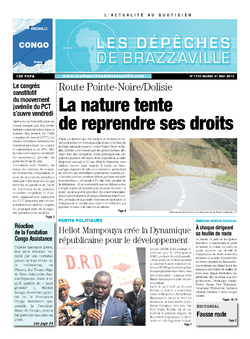 Les Dépêches de Brazzaville : Édition brazzaville du 21 mai 2013