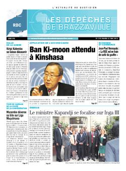 Les Dépêches de Brazzaville : Édition kinshasa du 21 mai 2013