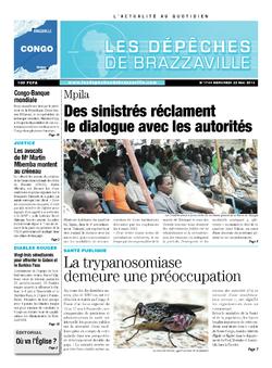 Les Dépêches de Brazzaville : Édition brazzaville du 22 mai 2013