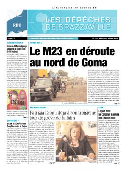 Les Dépêches de Brazzaville : Édition kinshasa du 22 mai 2013