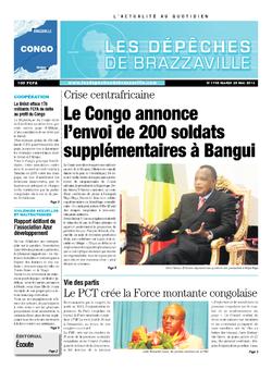 Les Dépêches de Brazzaville : Édition brazzaville du 28 mai 2013