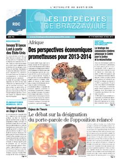 Les Dépêches de Brazzaville : Édition kinshasa du 29 mai 2013
