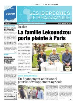 Les Dépêches de Brazzaville : Édition brazzaville du 30 mai 2013