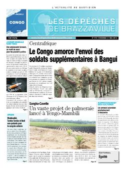 Les Dépêches de Brazzaville : Édition brazzaville du 31 mai 2013