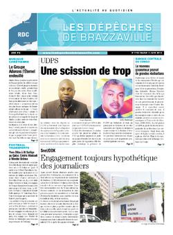 Les Dépêches de Brazzaville : Édition kinshasa du 04 juin 2013