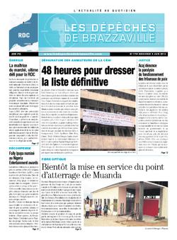 Les Dépêches de Brazzaville : Édition kinshasa du 05 juin 2013