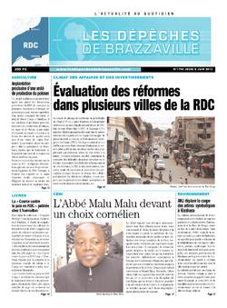 Les Dépêches de Brazzaville : Édition kinshasa du 06 juin 2013