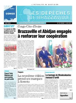 Les Dépêches de Brazzaville : Édition brazzaville du 11 juin 2013