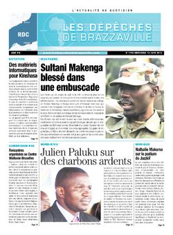 Les Dépêches de Brazzaville : Édition kinshasa du 12 juin 2013