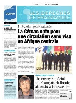 Les Dépêches de Brazzaville : Édition brazzaville du 17 juin 2013
