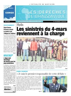 Les Dépêches de Brazzaville : Édition brazzaville du 18 juin 2013