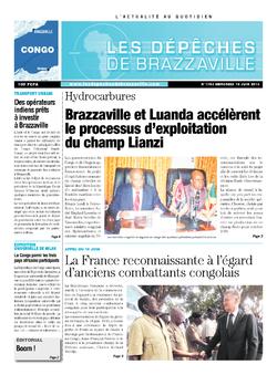Les Dépêches de Brazzaville : Édition brazzaville du 19 juin 2013