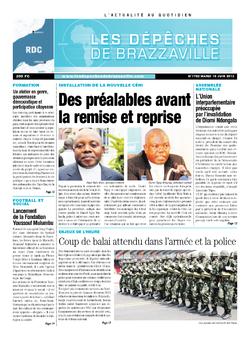 Les Dépêches de Brazzaville : Édition kinshasa du 19 juin 2013