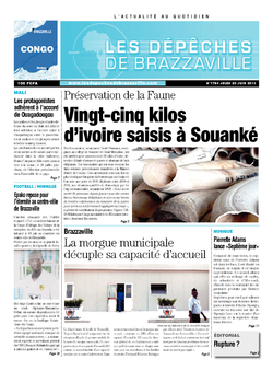 Les Dépêches de Brazzaville : Édition brazzaville du 20 juin 2013