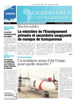 Les Dépêches de Brazzaville : Édition brazzaville du 21 juin 2013