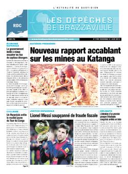 Les Dépêches de Brazzaville : Édition kinshasa du 21 juin 2013