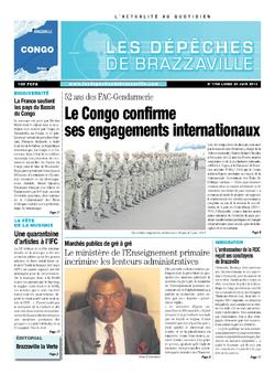 Les Dépêches de Brazzaville : Édition brazzaville du 24 juin 2013