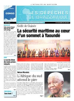 Les Dépêches de Brazzaville : Édition brazzaville du 25 juin 2013