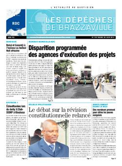 Les Dépêches de Brazzaville : Édition kinshasa du 25 juin 2013