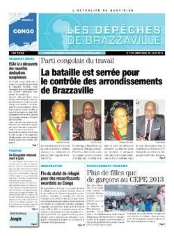 Les Dépêches de Brazzaville : Édition brazzaville du 26 juin 2013