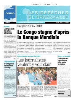 Les Dépêches de Brazzaville : Édition brazzaville du 27 juin 2013