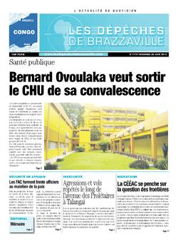 Les Dépêches de Brazzaville : Édition brazzaville du 28 juin 2013