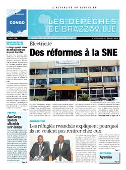 Les Dépêches de Brazzaville : Édition brazzaville du 01 juillet 2013