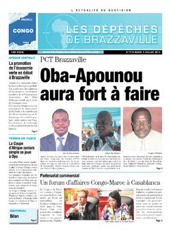 Les Dépêches de Brazzaville : Édition brazzaville du 02 juillet 2013