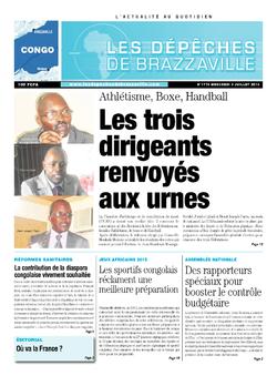Les Dépêches de Brazzaville : Édition brazzaville du 03 juillet 2013