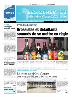 Les Dépêches de Brazzaville : Édition brazzaville du 04 juillet 2013