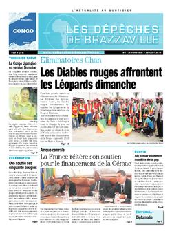 Les Dépêches de Brazzaville : Édition brazzaville du 05 juillet 2013