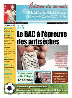 Les Dépêches de Brazzaville : Édition du 6e jour du 06 juillet 2013