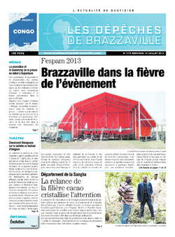 Les Dépêches de Brazzaville : Édition brazzaville du 10 juillet 2013