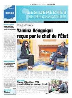 Les Dépêches de Brazzaville : Édition brazzaville du 11 juillet 2013