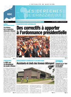 Les Dépêches de Brazzaville : Édition kinshasa du 11 juillet 2013