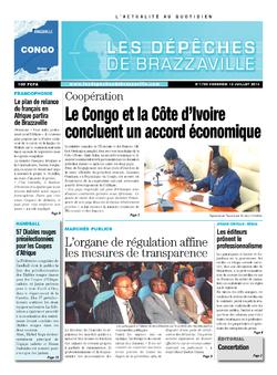 Les Dépêches de Brazzaville : Édition brazzaville du 12 juillet 2013